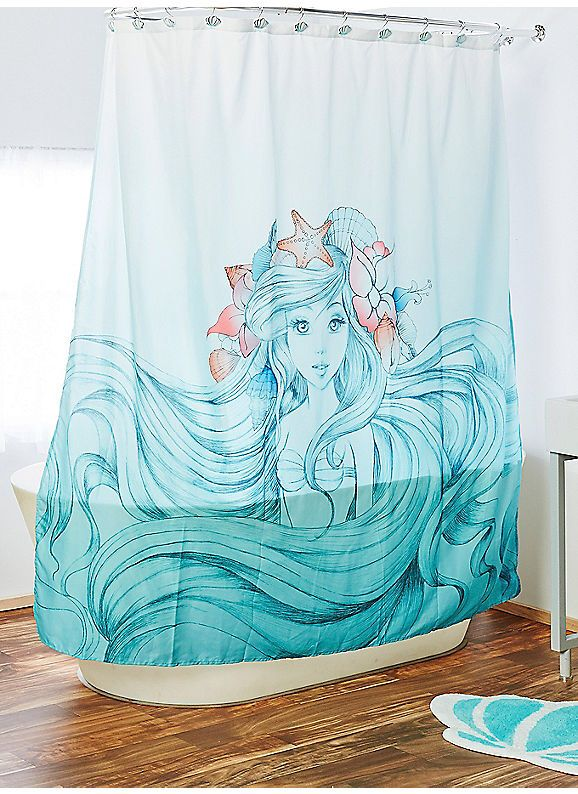 Boxlunch Disney The Little Mermaid Shower Curtain Mermaid Bathroom Decor Little Mermaid Bathroom Mermaid Bathroom