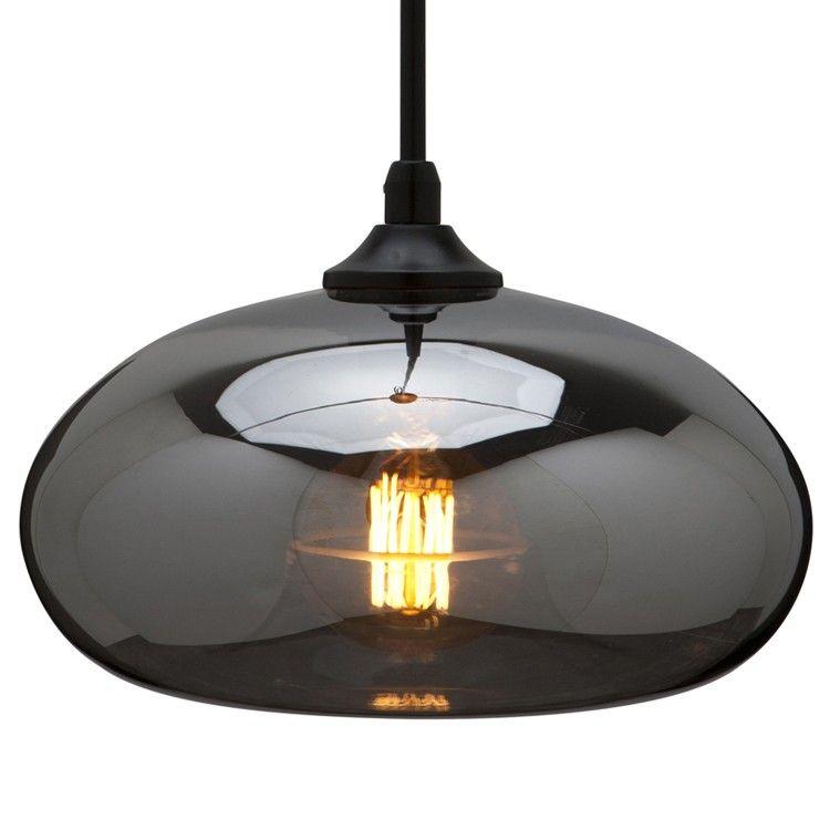 Nuevo living william glass pendant lamp in smoke grey 15800 modern lighting new york mid century lighting at modernist lighting glass pendant audiocablefo