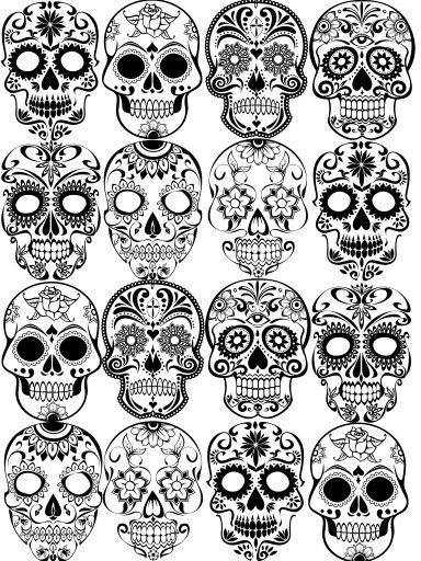 280 Best Sugar Skull Tattoo Designs With Meanings 2020 Dia De Los Muertos In 2020 Sugar Skull Tattoos Sugar Skull Drawing Sugar Skull Art Drawing