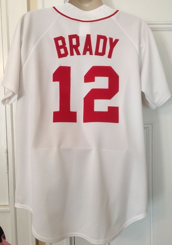 new arrival 1f55e e5bcd Tom Brady #12 JERSEY Boston Red Sox Majestic MLB GENUINE ...