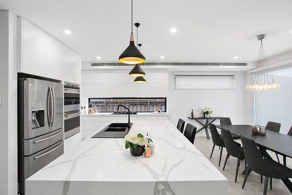 Stupendous Quartz Surfaces And Benchtop In Smartstone Calacatta Blanco Inzonedesignstudio Interior Chair Design Inzonedesignstudiocom