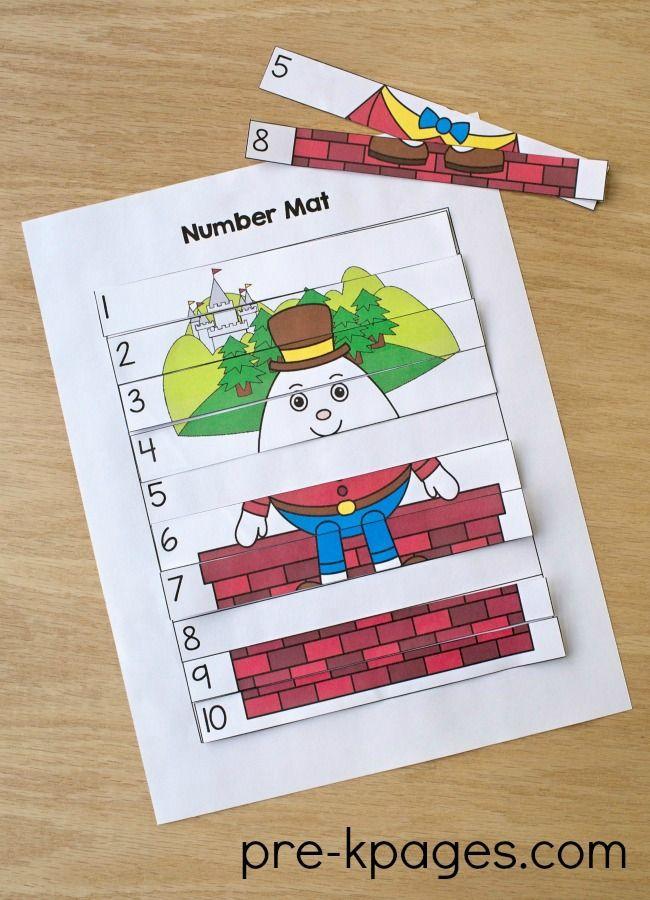 Humpty Dumpty Nursery Rhyme Theme In Preschool