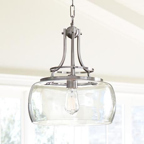 Charleston 13 1/2 Wide Brushed Nickel LED Pendant Light - #7P203 | Lamps Plus #pendantlighting
