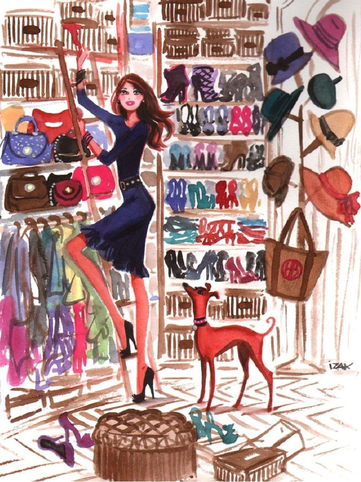 Here's to every girl's dream closet. Click the