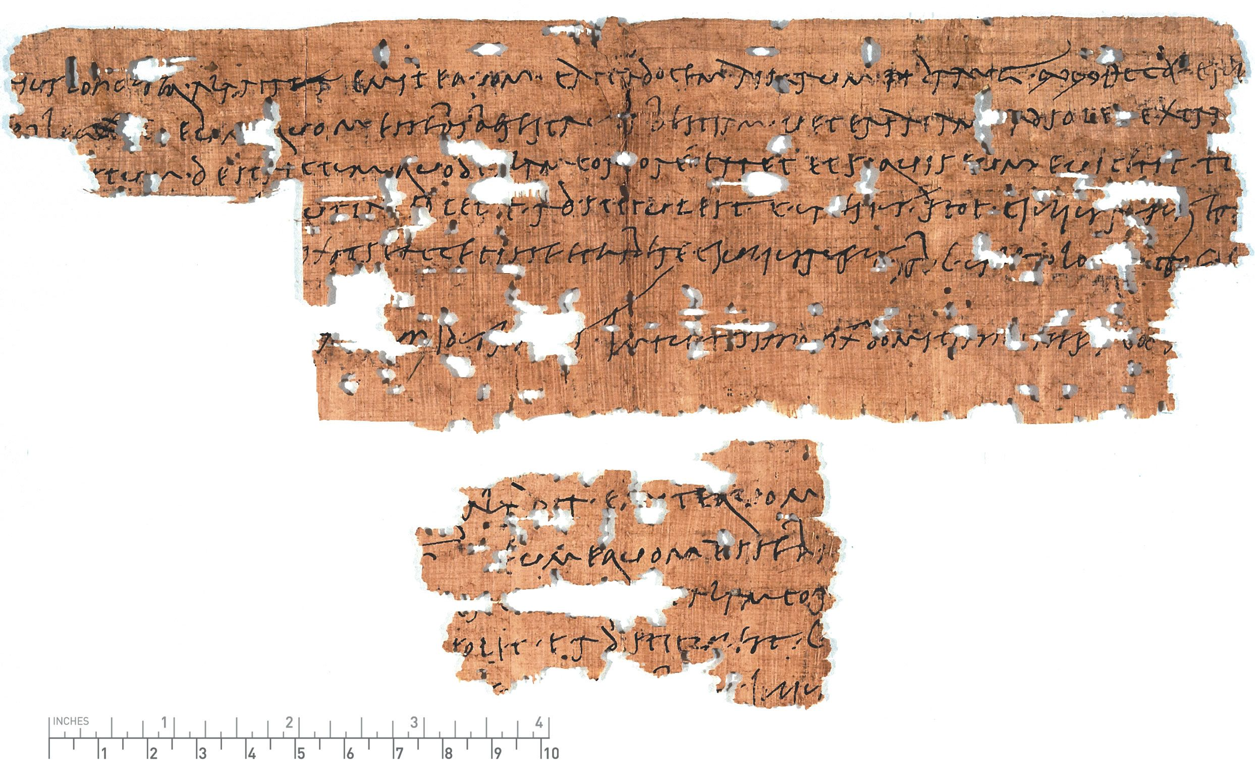Fragment Of A Horse Sales Contract Written On Papyrus In Old Roman