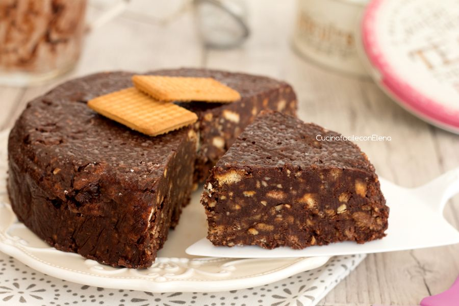 Torta Senza Uova Al Cioccolato.Torta Salame Di Cioccolato Senza Cottura E Senza Uova Cake