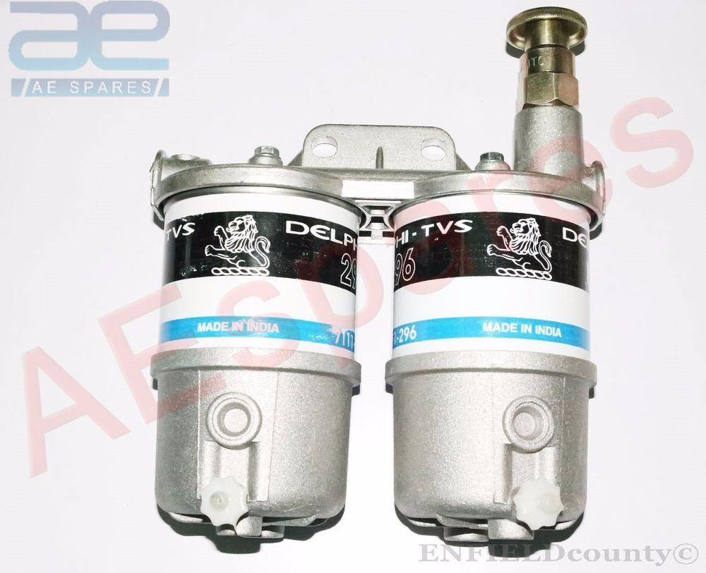 DOUBLE TWIN DIESEL FUEL FILTER ASSEY MASSEY FERGUSON FORD JOHN DEERE JCB  Diesel Fuel Filter,