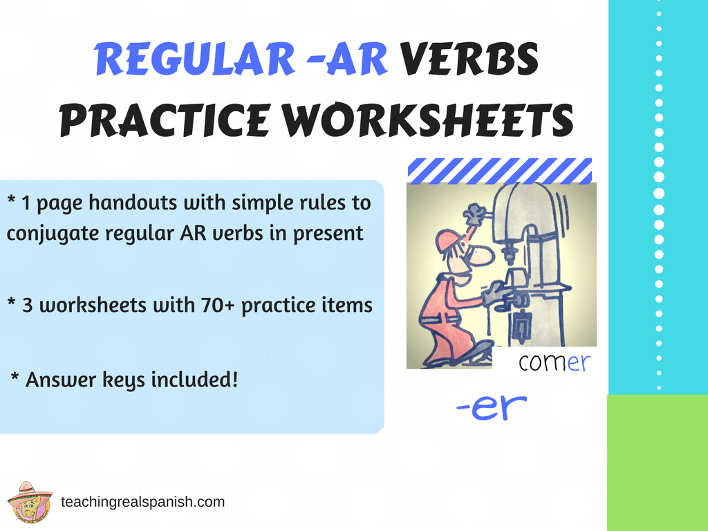 Ar Verb Worksheets Regular Simple Present
