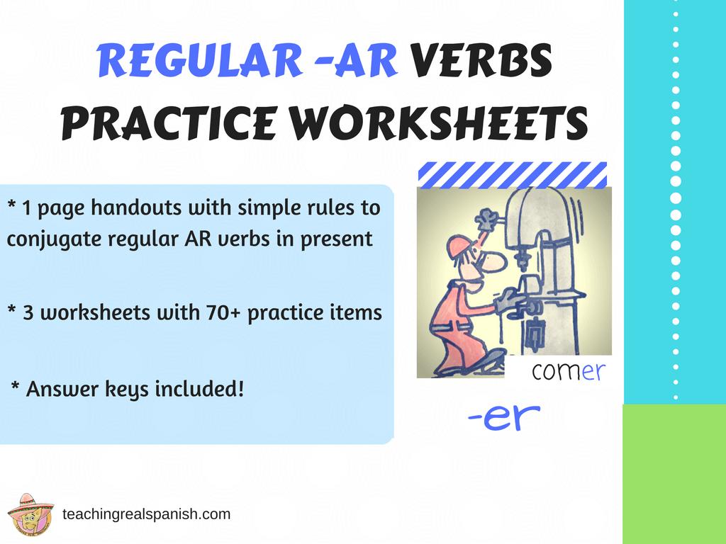 Ar Verb Worksheets Regular Simple Present