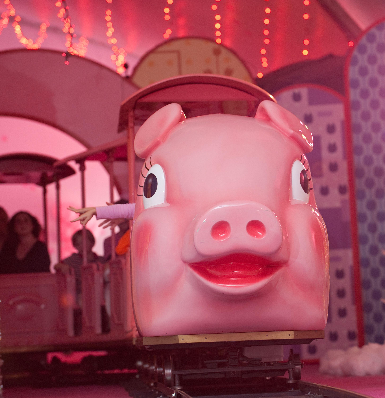 christmas pink pig