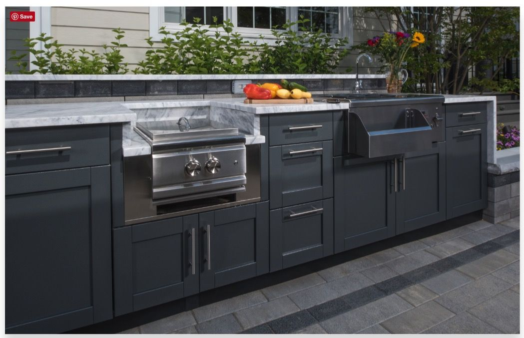 Outdoor Kitchen Cabinet Inspiration Danver Stainless Cabinets Shaker Profile In Dark Finish Modular Outdoor Kitchens Outdoor Cabinet Outdoor Kitchen