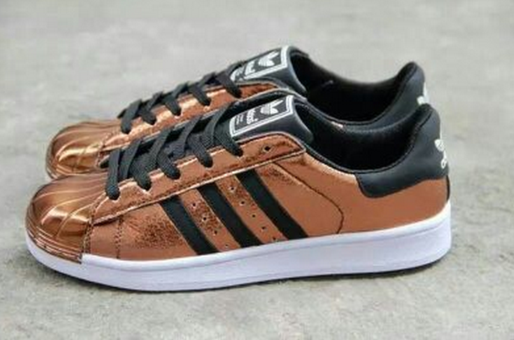 ADIDAS ORIGINALS SUPERSTAR STORY RETURN METALLIC BRONZE SNEAKER $190