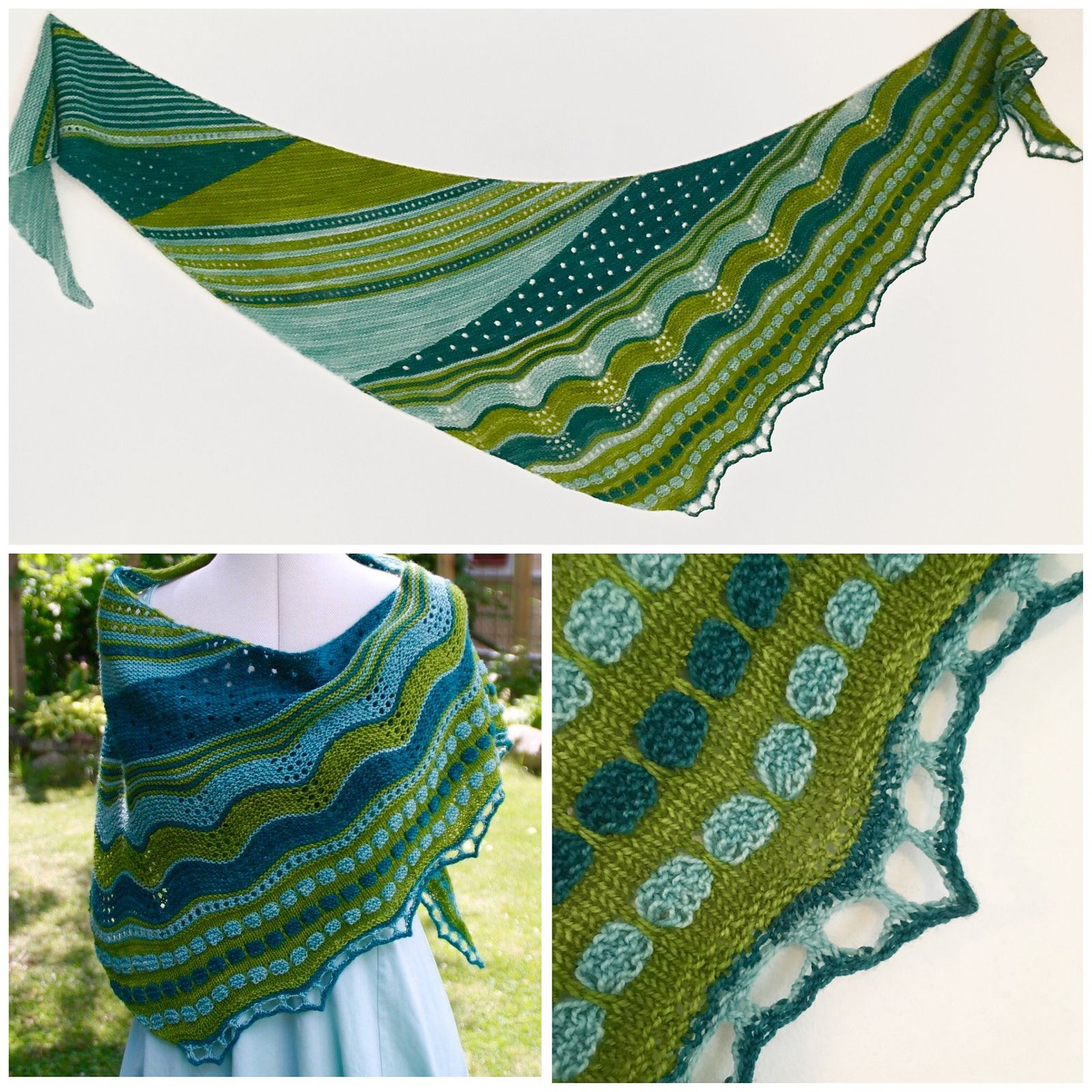 Evenly Uneven pattern by JennyPenny | Pattern library, Ravelry and Shawl