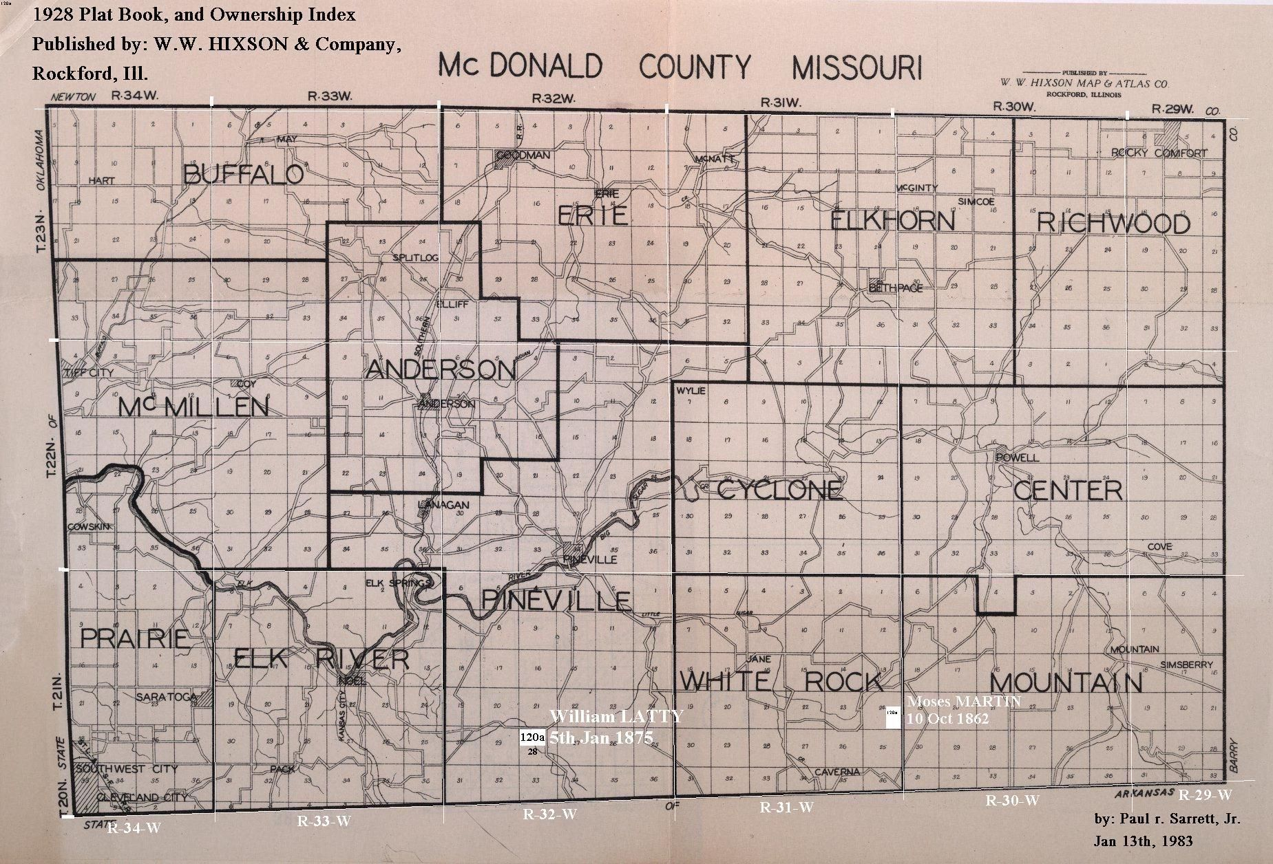 1884 mcdonald county missouri map - Google Search | DIY - Projects ...