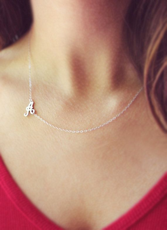 Old English Charm: Initial Necklace 14kt Gold Filled