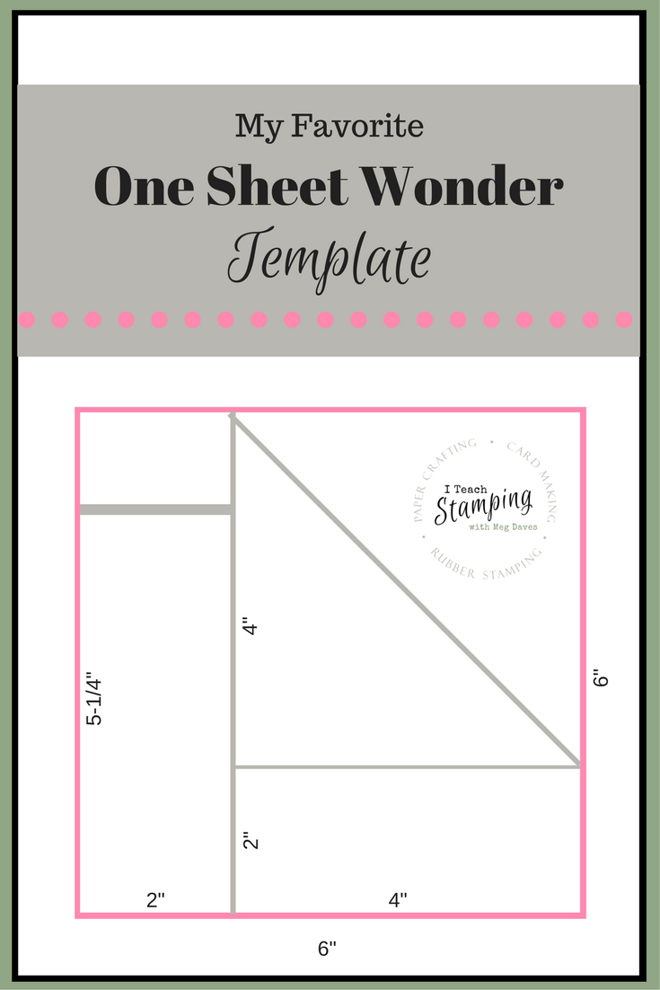 One Sheet Wonder Template For Batch Card Making Cards Pinterest