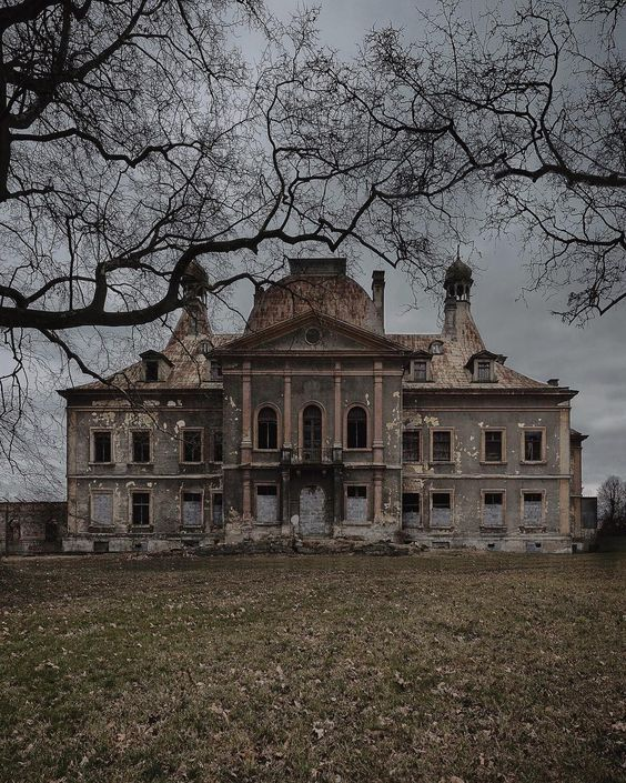 Abandoned Manor Home | Sometimes there is a history behind the abandonment of a…