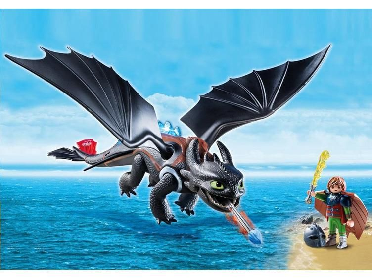 Dreamworks dragons playmobil playset hiccup toothless
