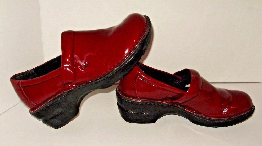 c622f90a9c96a BOC Born Womens Red Shiny Shoes Size 7.5 Nursing Occupational A8  Brn   occupational