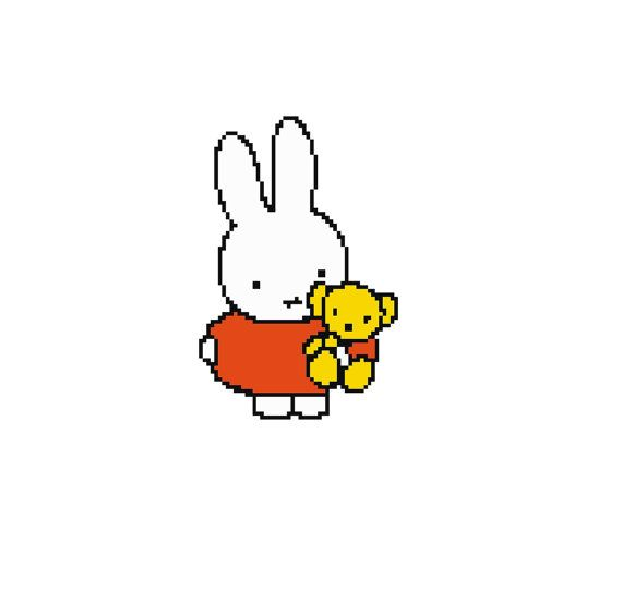 Hey, I found this really awesome Etsy listing at https://www.etsy.com/listing/204626883/miffy-cross-stitch-pattern-pdf-instant