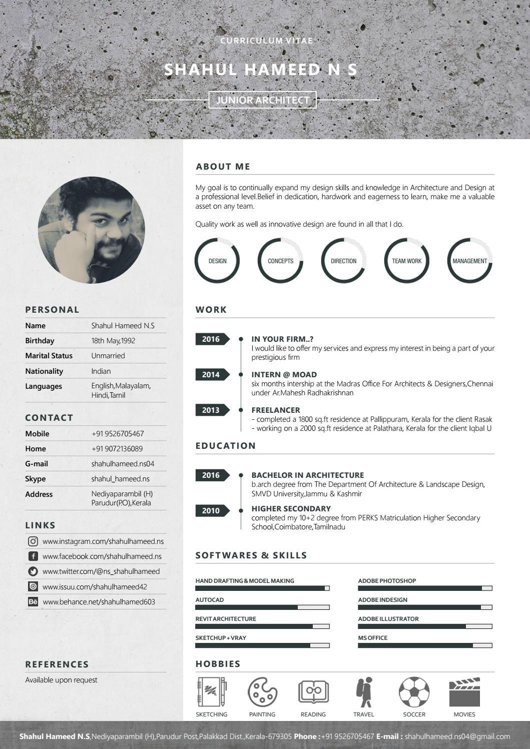 Architectural resume also pinterest rh