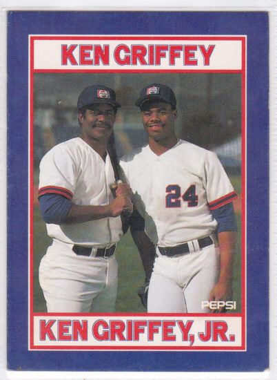 Ken Griffey Sr Ken Griffey Jr Pepsi Baseball By Collectorsville