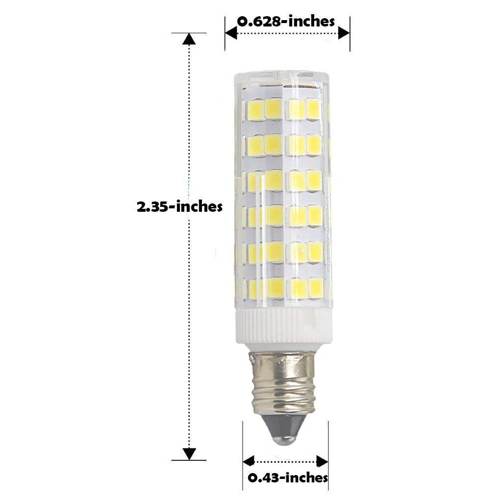 Dimmable E11 Led Bulbwarm White 3000k6w Equivalent To 60w Halogen Bulb360 Omnidirection Beam Angleac 110v 120v 130v Continue T Led Bulb Beams Halogen Bulbs