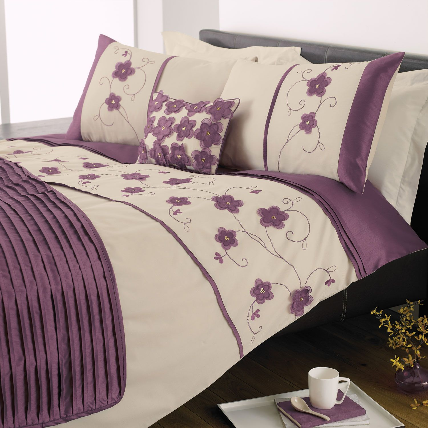 Purple and Yellow forter Sets Purple Duvet Sets