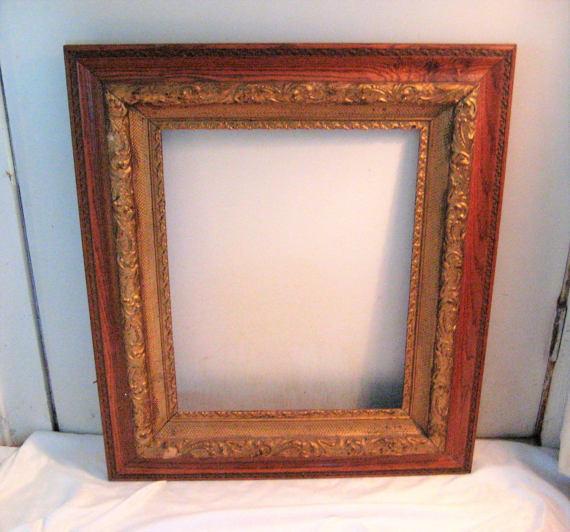 Large Antique Wood Frame Decorative Frame Ornate Frame Dark Wood