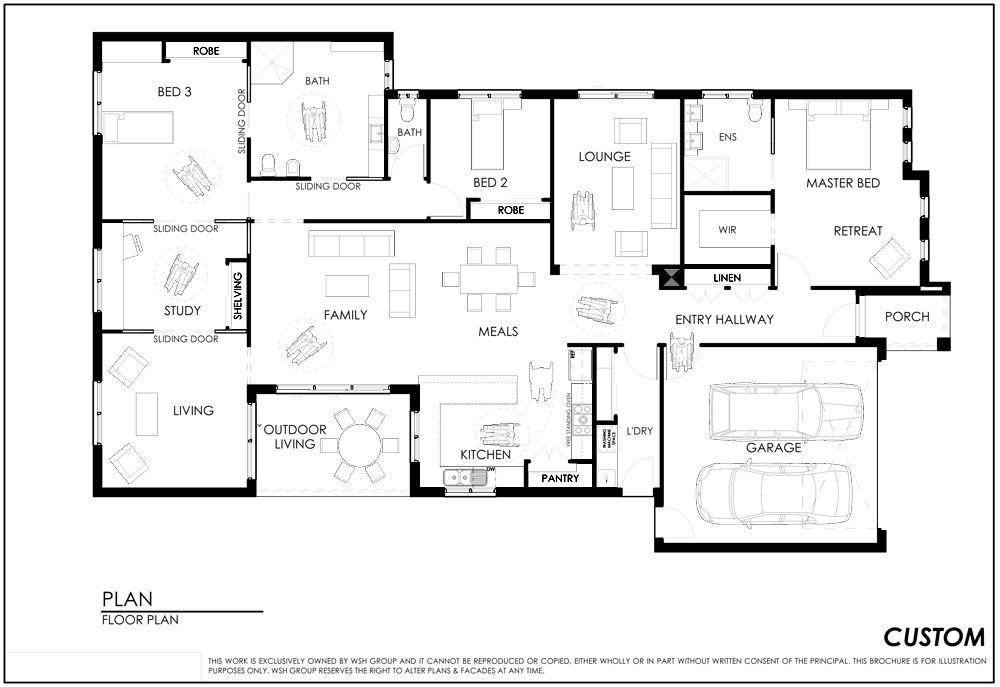 Rowe House Marketing Floor Plan Jpg 1000 687 Floor Plans Accessible House Ranch Home Floor Plans
