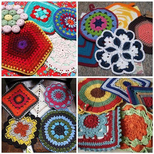 Free Crochet Pot Holder Patterns Free Crocheted Potholder Patterns
