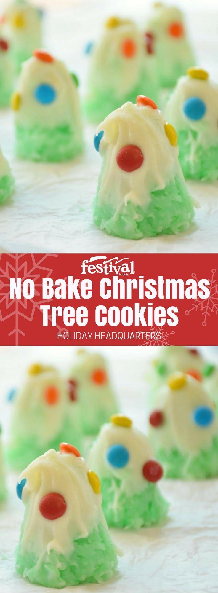 No Bake Christmas Tree Cookies | Christmas tree cookies, Christmas ...