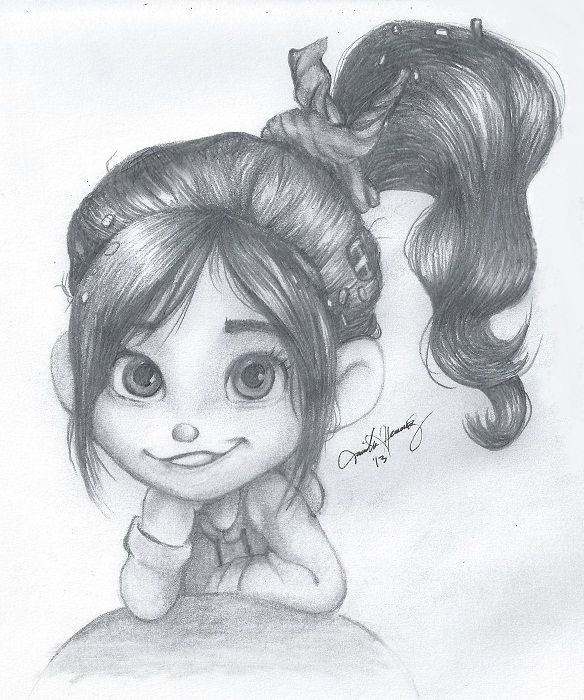 Vanellope Von Schweetz By Themadd Cute Cartoon Drawings Disney