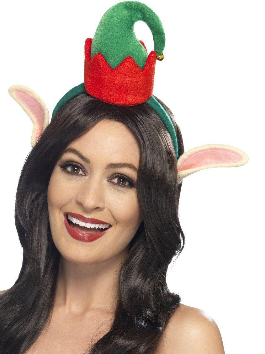 b586dc0e16a95 Mini sombrero elfo con orejas adulto Navidad