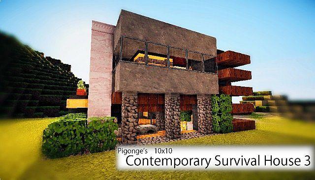 Pigonge's Contemporary Survival House 3 (10x10) Minecraft Project