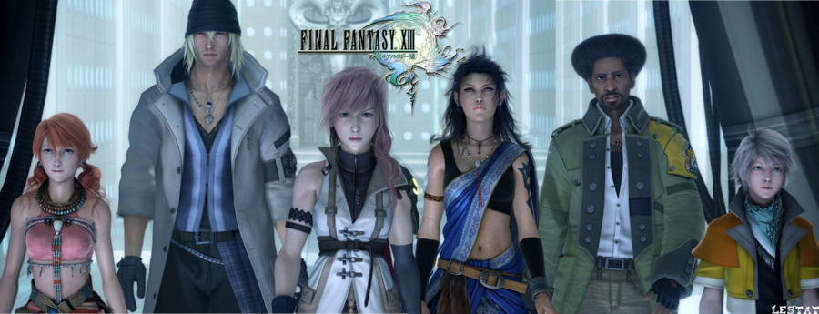 Main cast of FF13. Personally I love Snow (second from left) and Hope (far right)