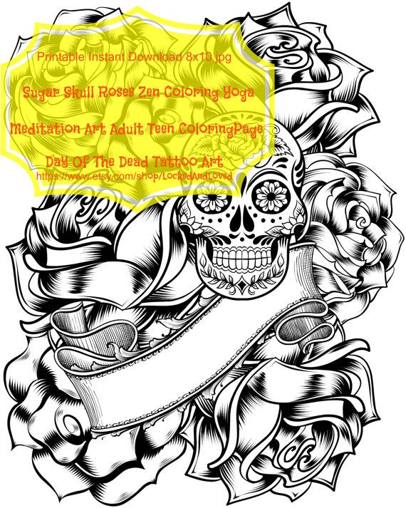 HALFPRICESALE Adult Coloring Pages Printable Instant Download jpg ...
