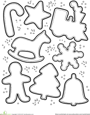 Christmas Cookie Decorating Activity Worksheet Education Com Christmas Coloring Sheets Felt Christmas Ornaments Felt Crafts Christmas