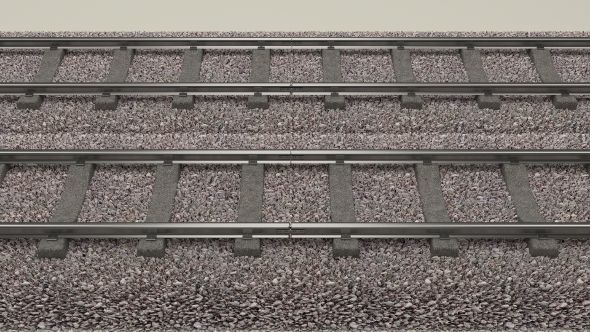 Train Track Double  Editable 3D model of a train  #3D #3DModel
