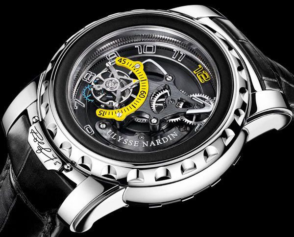 """If you have a spare $100,000 or so laying around, this Ulysse Nardin Freak Diavolo """"Rolf 75″ watch might be a good purchase..."""