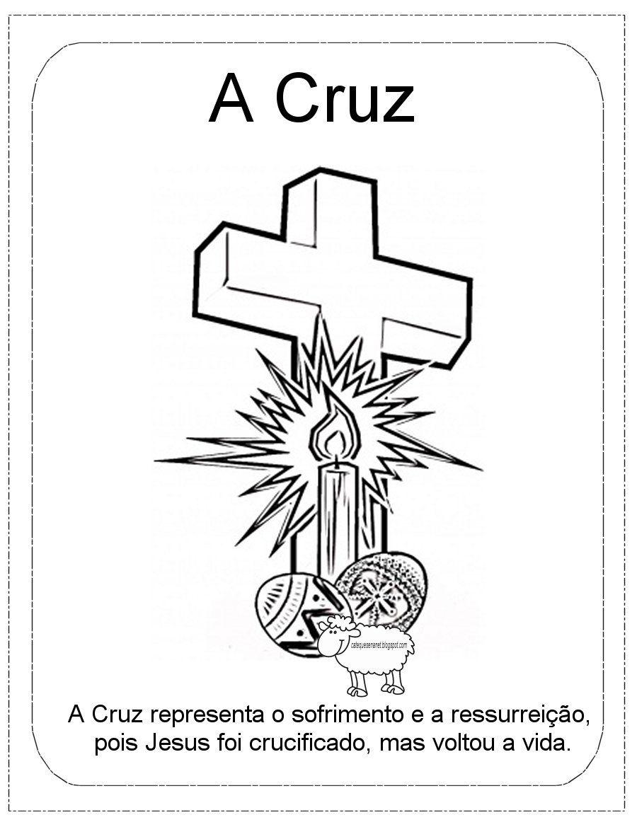 Simbolos Da Pascoa Atividade Para Catequese Com Imagens