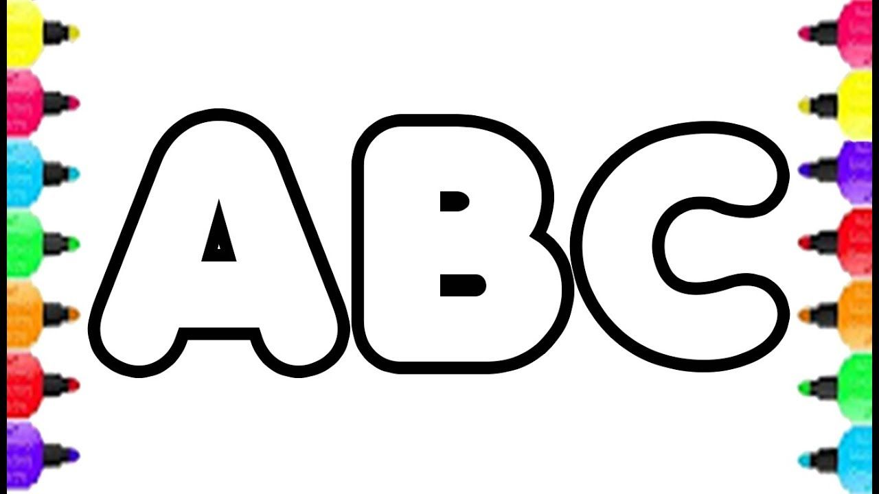 Alphabet Abc Coloring Pages How To Draw Alphabet A To Z And Coloring Pag Alphabet Coloring Pages Abc Coloring Abc Coloring Pages