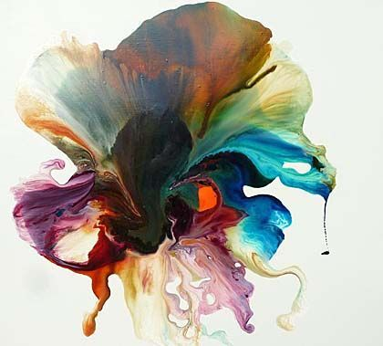 Image Result For Abstract Flowers Paintings Resin