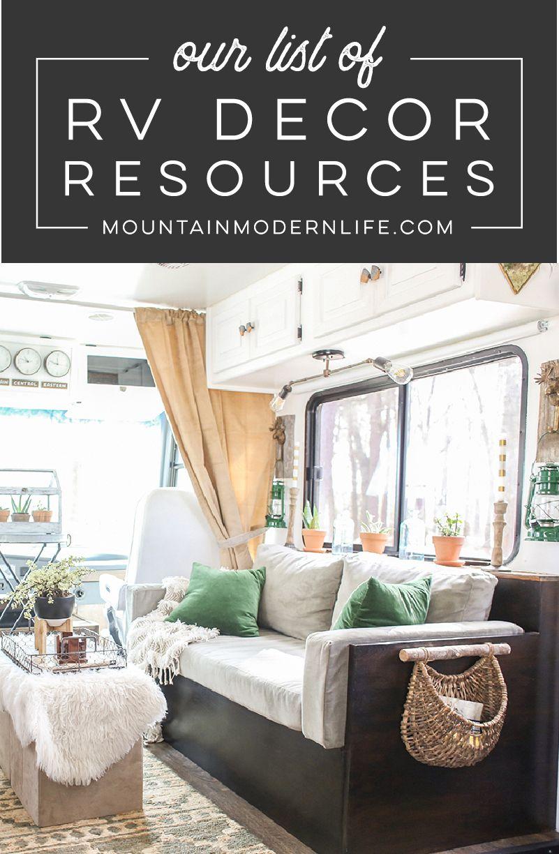 Our RV Decor Resources  Rv decor, Trailer decor, Decorating your rv
