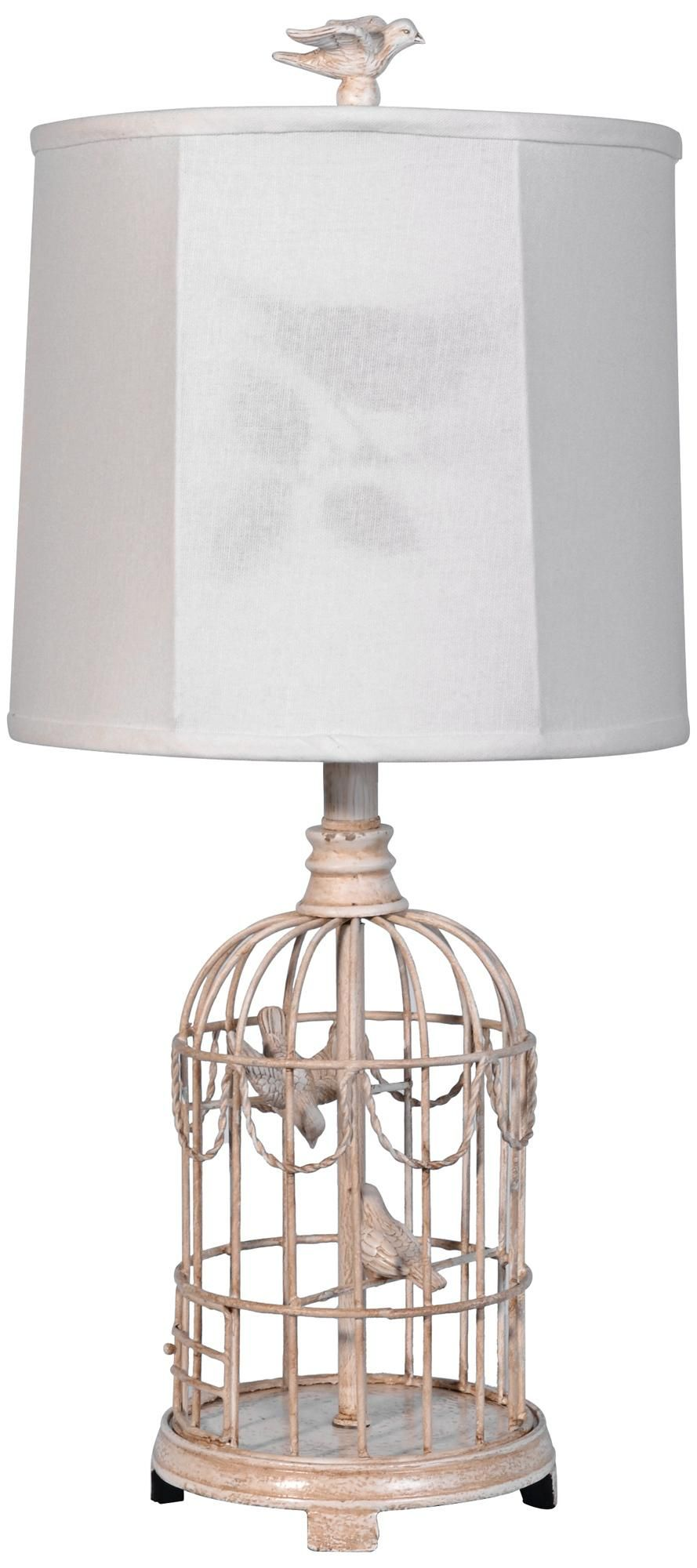 Bird cage table lamp with linen shade lampsplus for the bird cage table lamp with linen shade lampsplus geotapseo Image collections