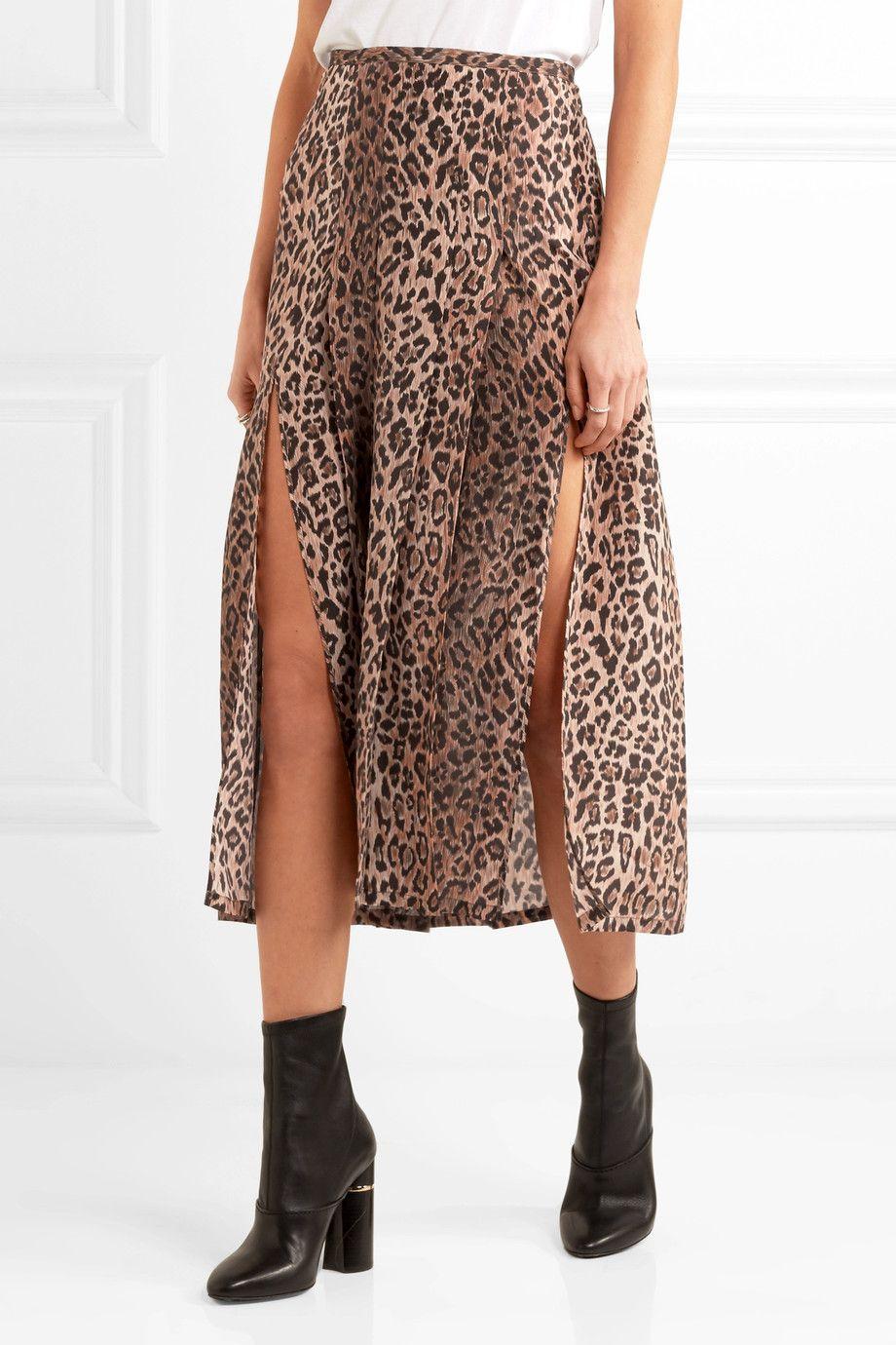 b4e7d4a5c241 RIXO London | Georgia pleated leopard-print silk skirt | NET-A-PORTER.COM