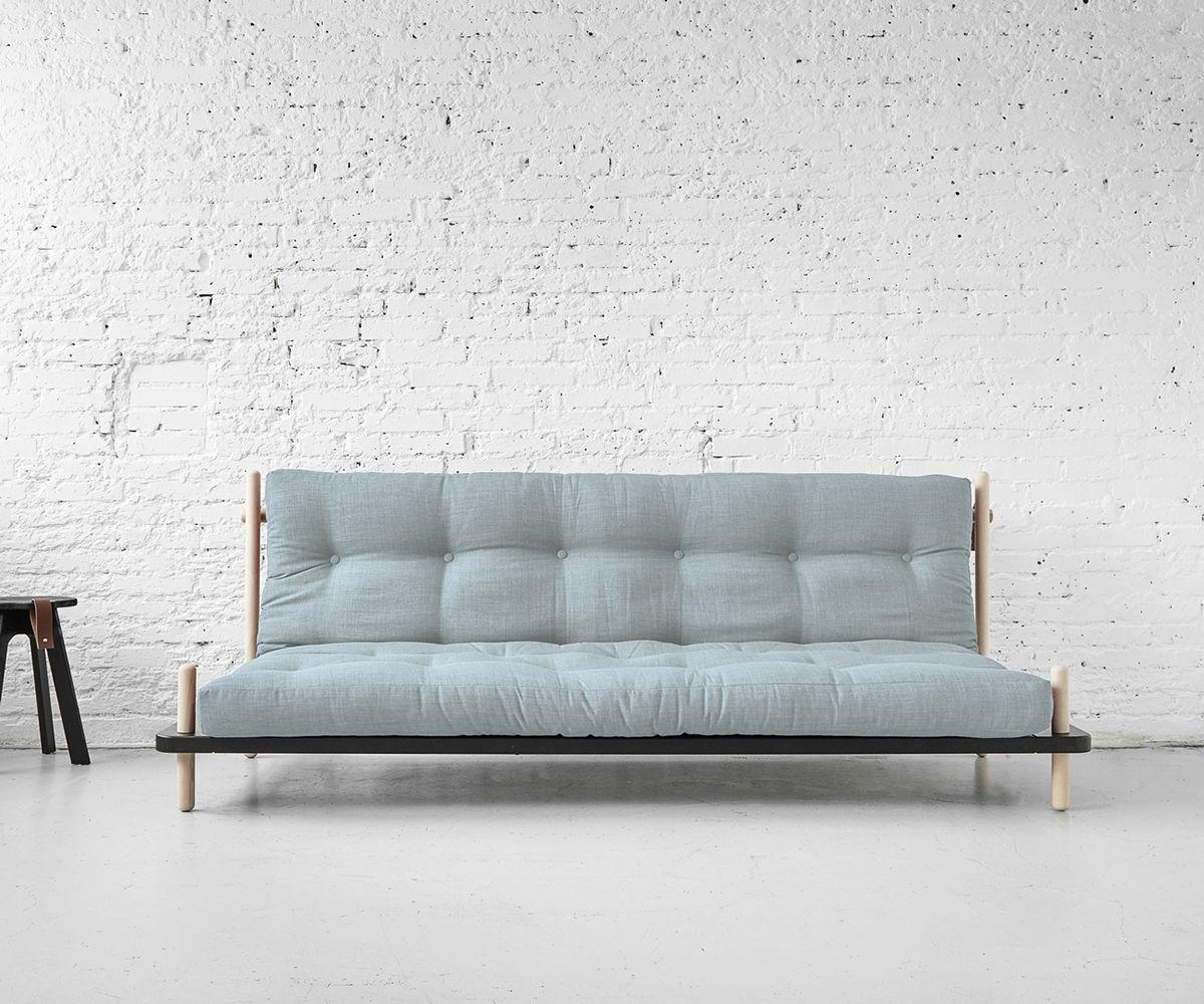 Sofa Point im Skandi Design: helles Holz mit Futon in pastell ...