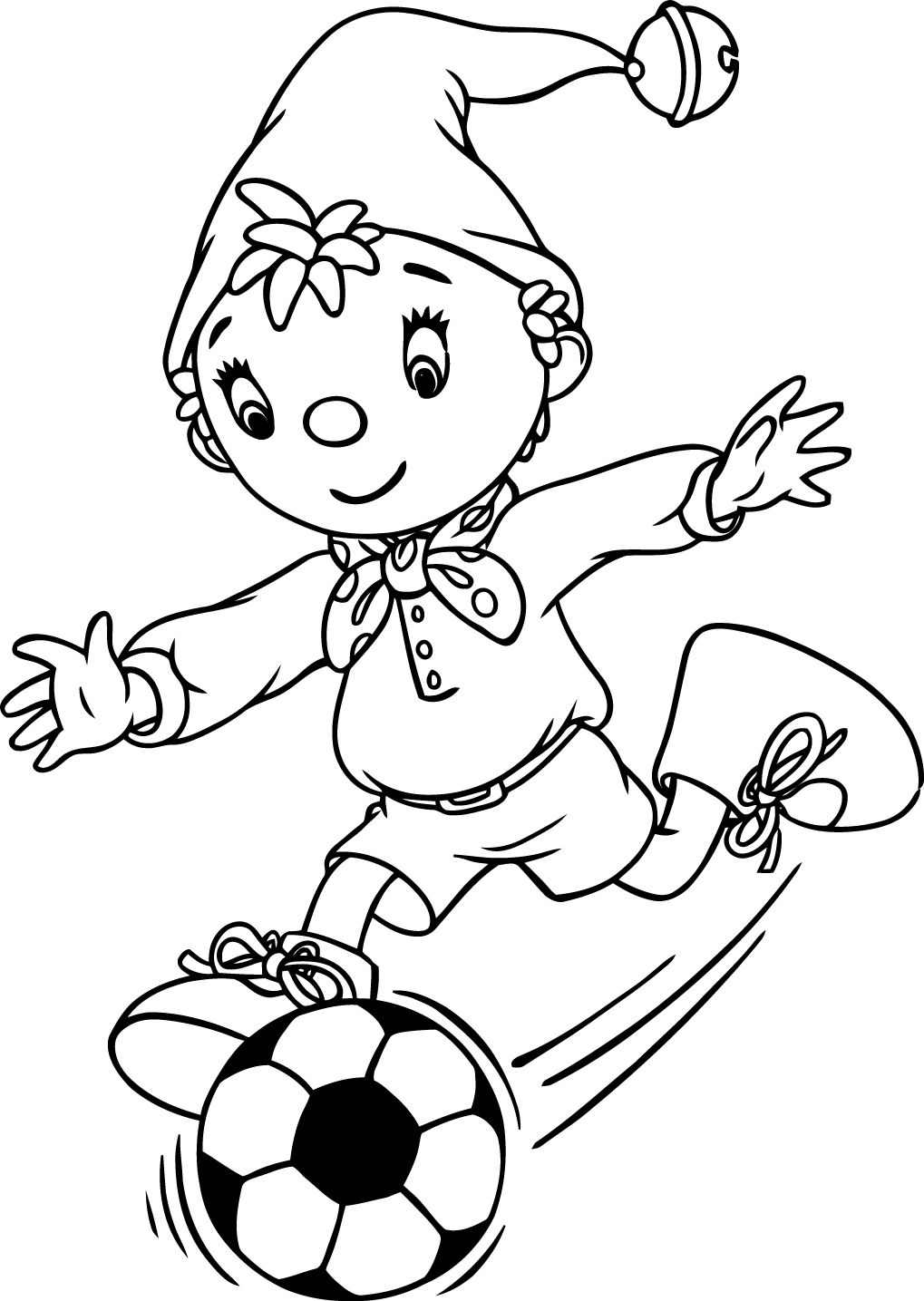 Noddy 97 Play Football Coloring Page Football Coloring Pages