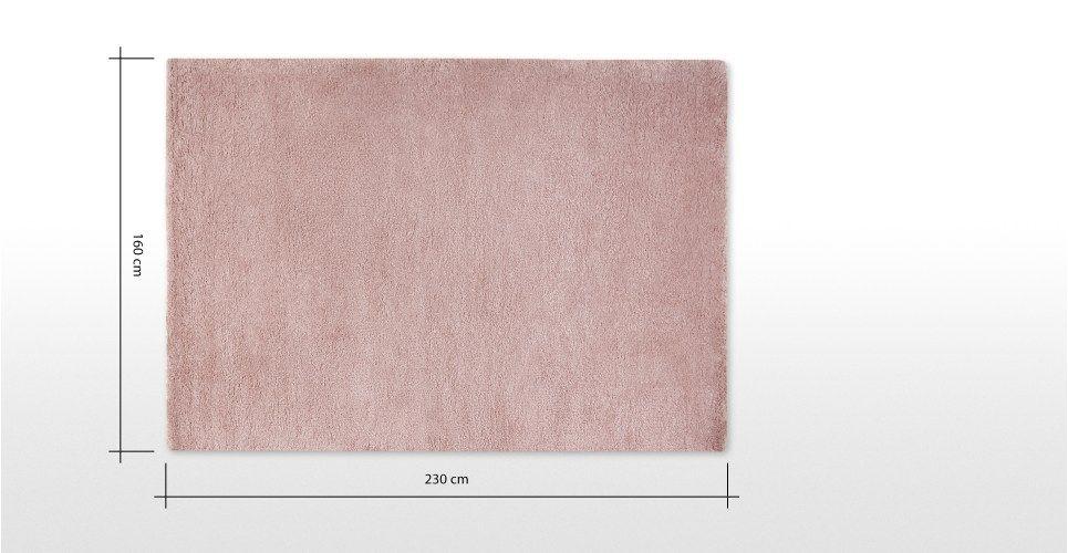 Pink Shaggy Large Plain Rug 160 X 230cm Mala Made Com