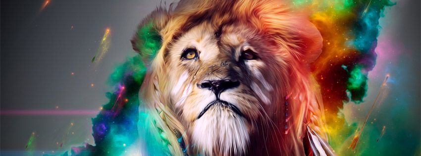 Abstract lion picture - Facebook cover | Facebook Covers ...